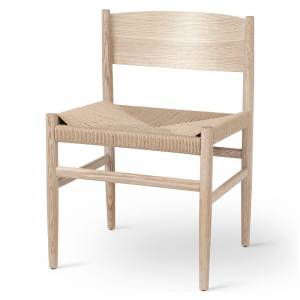 Nestor Dining Chair - Natural Paper Cord Seat, Matte Lacquered Oak