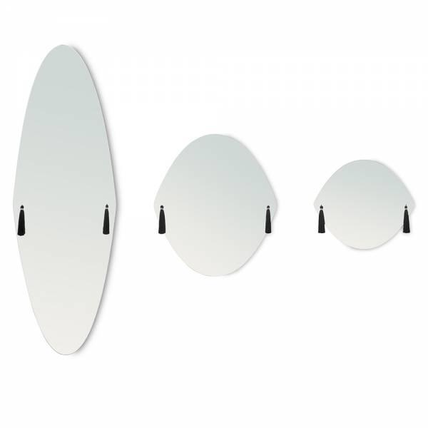 Panache Small Wall Mirror - Black