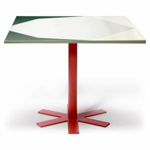 Parot Square Table - Green Pattern
