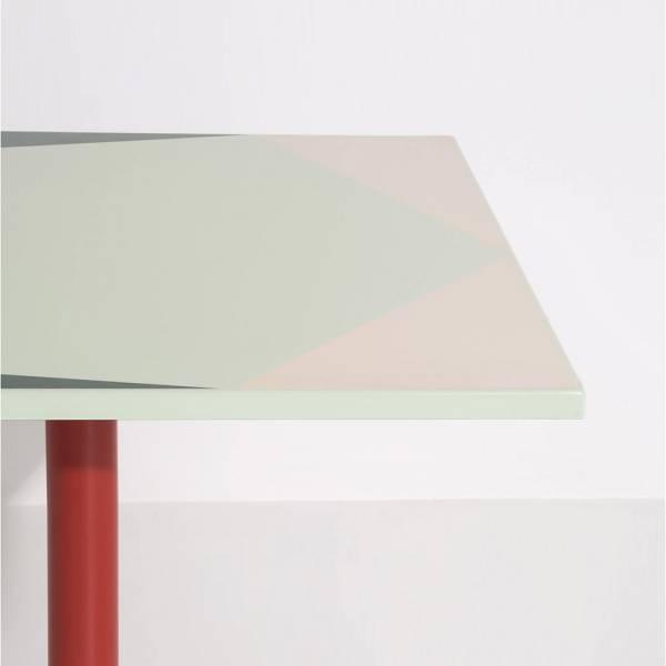 Parot Square Table - Green Pattern