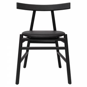 Ronin Dining Chair - Black Wood Back