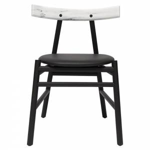 Ronin Dining Chair - White Marble Back