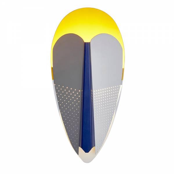 Sorcier Wall Lamp - Gray, Yellow, Blue