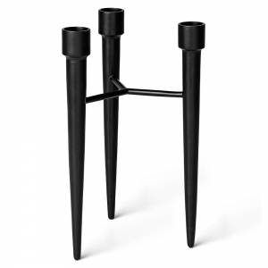 Spike Candle Holder - Matte Black