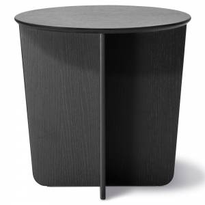 Tableau Round Side Table - Black Oak