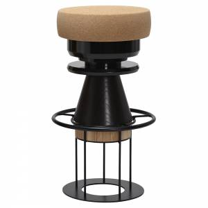 Tembo Bar Stool - Black