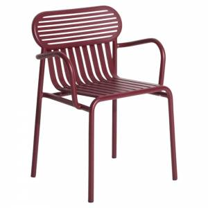 Week-End Bridge Armchair Set Of 2 - Burgundy