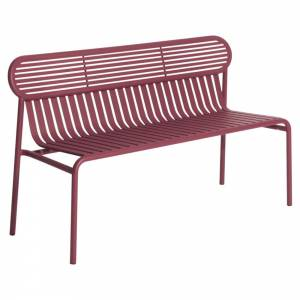 Week-End Garden Bench - Burgundy