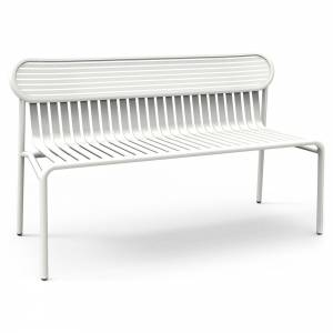 Week-End Garden Bench - White