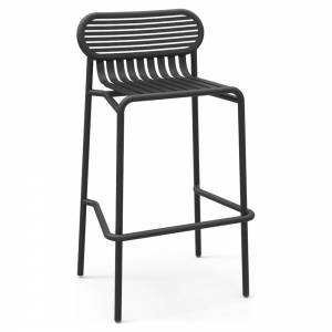 Week-End Garden High Stool Set Of 2 - Black