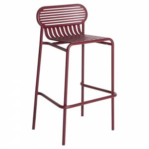 Week-End Garden High Stool Set Of 2 - Burgundy