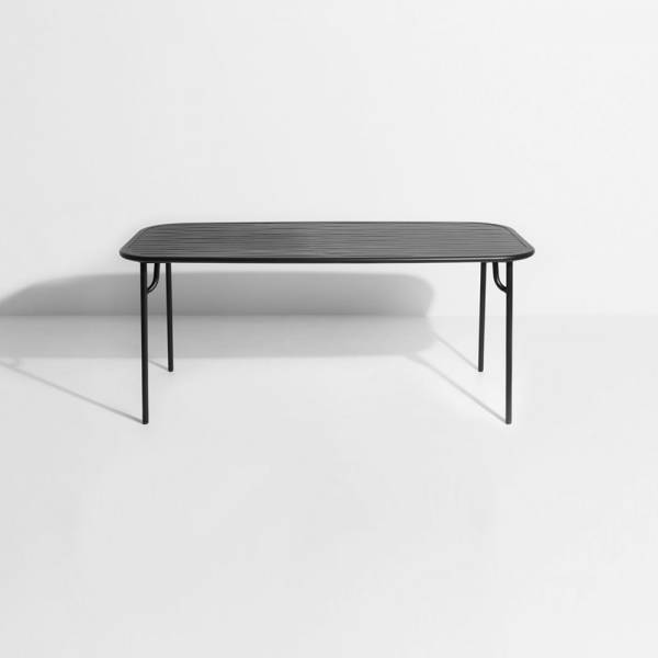 Week-End Rectangular Garden Table - Black