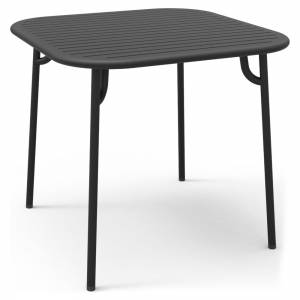 Week-End Square Garden Table - Black