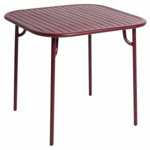 Week-End Square Garden Table - Burgundy