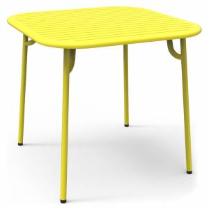 Week-End Square Garden Table - Yellow