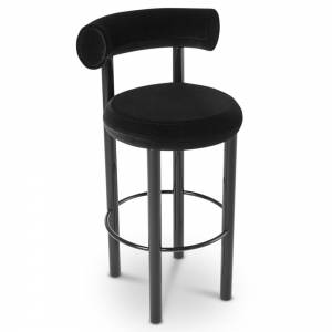 Fat Bar Stool - Cassia Velvet