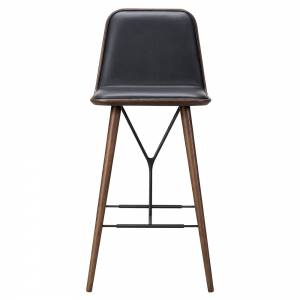 Spine Bar Chair - Leather, Smoked Oak