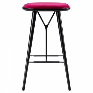Spine Bar Stool - Harald 3, Black Lacquered Ash