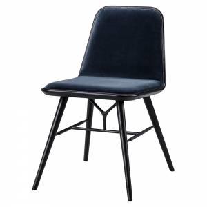 Spine Dining Chair - Harald 3, Black Lacquered Ash