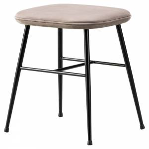 Spine Stool - Leather, Metal Base