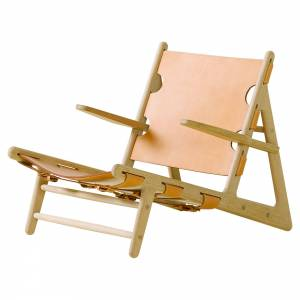The Hunting Lounge Chair - Natural Leather