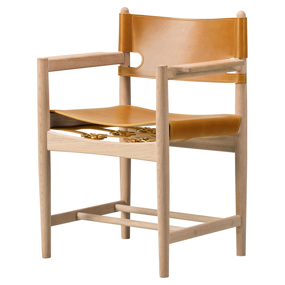 The Spanish Armchair – Natural Leather – Rouse Home
