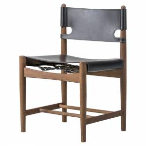 The Spanish Dining Chair - Black Leather