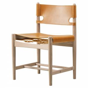 The Spanish Dining Chair - Natural Leather