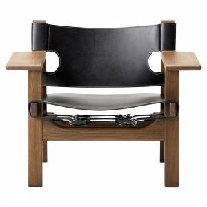 The Spanish Lounge Chair - Black Leather