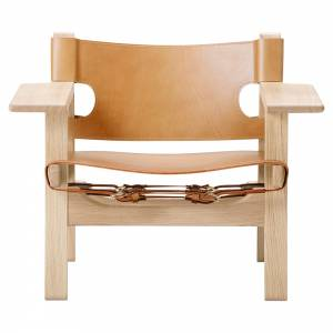 The Spanish Lounge Chair - Natural Leather