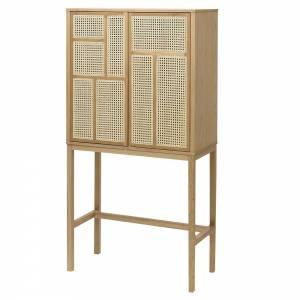 Air Cabinet - Oak, Cane