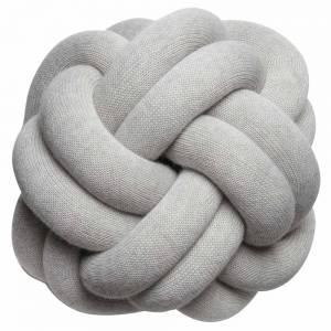 Knot Cushion, Set of 2 - White Gray