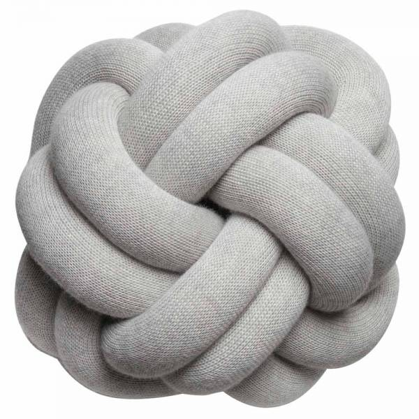 Knot Cushion, Set of 2 - White Gray