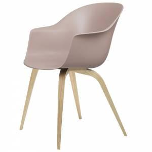 Bat Unupholstered Dining Chair - Sweet Pink, Oak Base