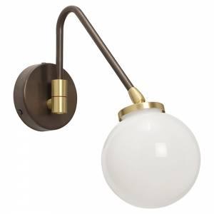 Array Single Wall Sconce - Bronze, Satin Brass, Opal Glass Shade