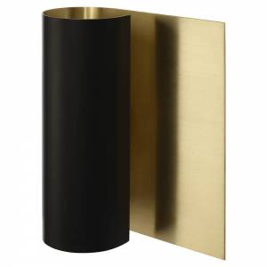 Grace Wall Sconce - Matt Black, Satin Brass
