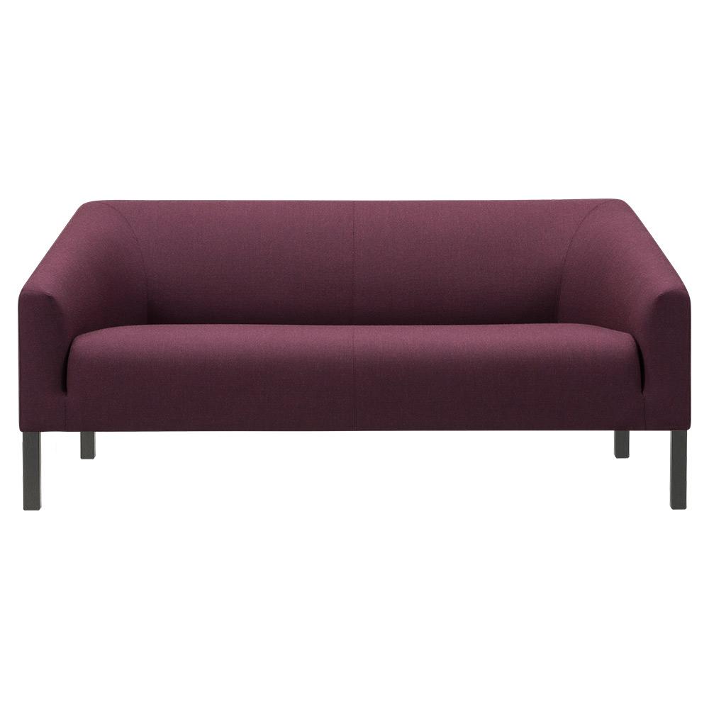 Terrific Kile 2 Seater Sofa Fabric Black Oak Machost Co Dining Chair Design Ideas Machostcouk