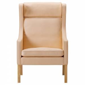Mogensen 2204 Wing Lounge Chair - Leather, Oiled Oak