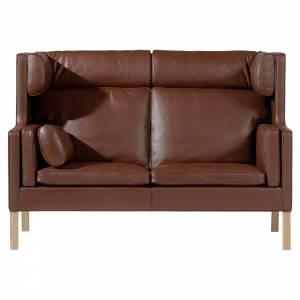 Mogensen 2292 Coupe Sofa - Leather, Soap Oak