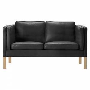 Mogensen 2332 2 Seater Sofa - Leather, Soap Oak