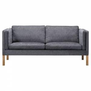 Mogensen 2335 2.5 Seater Sofa - Fabric, Oiled Oak