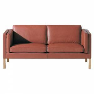 Mogensen 2335 2.5 Seater Sofa - Leather, Soap Oak