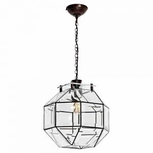 Paragon Pendant - Bronze, Bevelled Glass