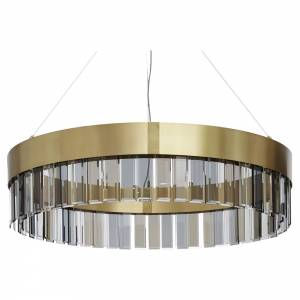 Solaris Pendant - Satin Brass, Cut Glass