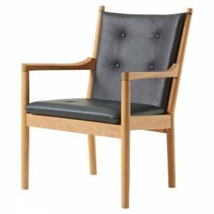Wegner 1788 Easy Chair - Leather, Oiled Oak
