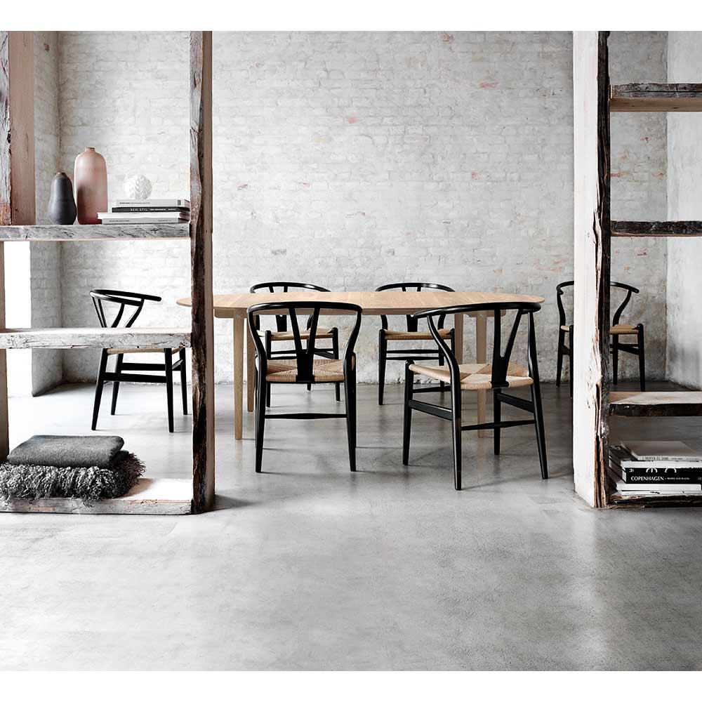 Black Wishbone Off 50, Black Wishbone Chairs Dining Room