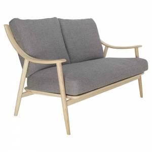 Marino Sofa - Gray Fabric Cushion, Natural Ash Frame