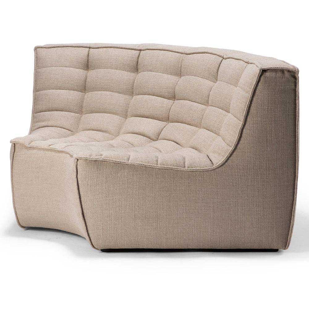 N701 Round Corner Sofa Beige Rouse Home