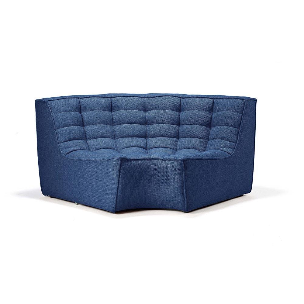 N701 Round Corner Sofa - Blue