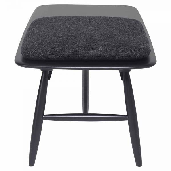 Von Bench With Pad - Black Pad, Black Frame